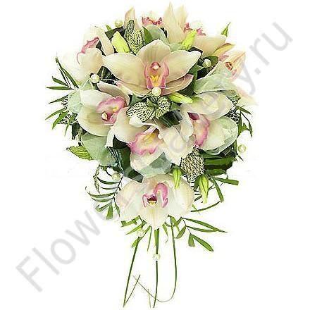 Купить Букет Невесты из Орхидей Цветы